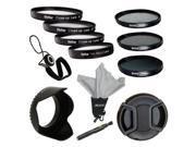 Vivitar VIV-CL-55 Close-up 52mm +1/+2/+4/+10 Lens Set + 3-Piece Filter Kit 55mm for Digital Camera/Video