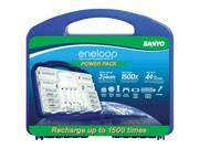 Sanyo eneloop Power Pack (8)AA, (2)AAA, (2)C, (2)D Spacers and Charger