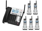 AT&T SB67118/SB67138 4-Line Corded-Cordless Phone System with 5 Handset Kit