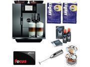 JURA GIGA 5 -13623 Cappuccino and Latte Macchiato System with Café Moulu 13-Pc Espresso Set and Deluxe Accessory Bundle plus $100 Gift Card 9SIV0873MK3855
