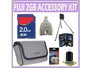 FujiFilm Fuji Soft Leather Carrying Case for Fuji Digital Cameras  Bundle