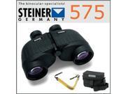 Steiner 575 7x50 Marine Binoculars USA + Steiner Yellow Binocular Float Strap + Steiner 7x50 & 10x50 Large Binobag Binoculars Case