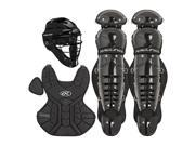 Rawlings Ages 9 & under Catcher Set Players Series, Black