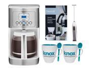 Cuisinart 14 Cup Programmable Coffeemaker (White) Bundle 9SIA1JX5F67910