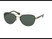Ralph Lauren RA4113 Womens Sunglasses (Olive Gold Frame/Green Lens)