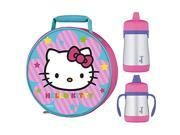 Thermos Hello Kitty Novelty Lunch Kit w/ 7oz & 10Oz Sippy Cup Drink Bottle