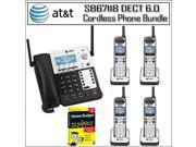 AT&T SB67138 Dect 6.0 with 1 Handset Landline Telephone + 4 Additional Cordless Phone Accessory Handsets 9SIV1686MG5226