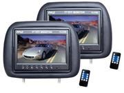PYLE AUDIO PYLPL71PHBB Pyle PL71PHB Headrest Pair with Built-In 7-Inch TFT-LCD Monitors (Black)