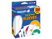 maxell T37884W Maxell CD-DVD Paper Sleeve 100