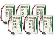 BATT-BT-1008(6-pack) Replacement Battery for Dect 6-0 2000 Series And DCX200