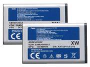 Battery for Samsung AB663450GZ (2-Pack) Replacement Battery