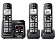 Panasonic KX-TGD563M Link2Cell Bluetooth Cordless Phone With Voice Assist And Answering Machine - 3 Handsets, Black