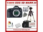 Canon EOS 5D Mark III Digital Camera, with SSE Starters Kit, Includes 8GB High Speed CF Card, High Speed Card Reader, Extra LP-E6 Replacement Battery, Pro Fluid