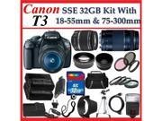 Canon BUNDLE EOS Rebel T3 1100d SLR Digital Camera with Canon EF-S 18-55mm f/3.5-5.6 IS II Autofocus Lens (18PC Kit)