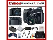 Canon PowerShot G1 X (G1X) Digital Camera Kit Includes: Canon G1 X, Extended Life Battery, Rapid Travel Charger, 32GB SDHC Memory Card, Memory Card Reader, Memo