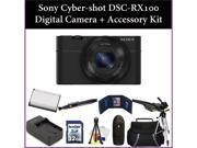 Sony Cyber-shot DSC-RX100 Digital Camera + Accessory Kit. Includes:32GB Memory Card, Memory Card Reader, Battery, Charger, Lens Pen & More