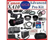 Canon XA10 Professional Camcorder with 64GB Internal Flash Memory and Full Manual Control Photographers Package: 32GB SD, Wide Angle Lens, Telephoto Lens, 3PC