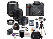 Nikon D7000 16.2MP CMOS Digital SLR w/ Nikon 18-105mm ED VR AF-S DX Nikkor Autofocus Lens & Nikkor 50mm f/1.8D Autofocus Lens & Nikkor 55-200mm f/4-5.6G IF-ED Lens with SSE Pro Series Package!!