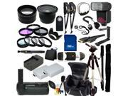 The EVERYTHING YOU NEED Package for Canon EOS Rebel T3i, Canon EOS Rebel T4i, Canon EOS Rebel T5i Digital SLR Cameras. Includes: Wide Angle, Telephoto, Filters, Flash, Tripod, 32GB SD Card & Much More