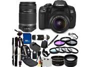 Canon 650D / EOS Rebel T4i Digital Camera with EF-S 18-55mm  IS II Lens & EF-S 55-250mm IS II Lenses. Also Includes: Wide Angle & Telephoto Lenses, 7 Pro Filters, Tripod, Monopod, Backpack & More