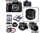 Nikon D600 24.3MP FX-Format DSLR Camera (Body Only) With Nikon AF-S Nikkor 50mm f/1.8G Lens & Essential Accessory Package including 32GB SDHC Card & More