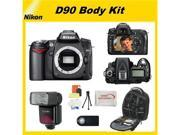 Nikon D90 SLR Digital Camera (Body Only) with SSE Premium Body Upgrade Kit: Includes: Deluxe Shockproof Weather Resistant Backpack, Wireless Remote, Dedicated Shoe Mount Flash and More...