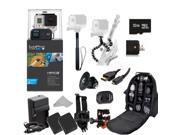 GoPro HERO3+ Black Edition Camera (CHDHX-302) + Action Pro Series All In 1 Outdoors Kit Designed for flat surface - helmet biking, skydiving, surfing, horseback