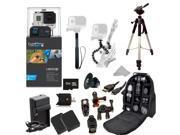 GoPro HERO3+ Black Edition Camera (CHDHX-302) + Action Pro Series All In 1 ATV/Bike Kit Designed for Bike Mount Motorcross, ATV, ROAD, MOUNTAIN, snowmobile + Extra Necessary Accessories