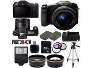Sony Cyber-shot DSC-RX10 20.2MP Full HD 1080P Digital Camera DSCRX10/B Professional Bundle