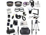Photo4Now EVERYTHING YOU NEED Package for Nikon D3100, Nikon D3200, Nikon D5100, Nikon D5200 DSLR Cameras. Includes: Wide Angle & Telephoto Lenses, Filters, Re