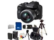 Fujifilm FinePix SL1000 Digital Camera Kit. Includes 32GB Memory Card, High Speed Card Reader, Extended Life Replacement Battery, Slave Flash, Tripod, Carrying