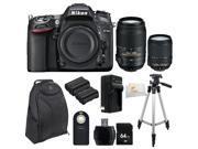 Nikon D7100 24.1 MP DX-Format CMOS Digital SLR (Body Only) + Nikon AF-S DX NIKKOR 18-140mm f/3.5-5.6G ED VR Lens + Nikon AF-S NIKKOR 55-300mm f/4.5-5.6G ED VR Zoom Lens + 64GB Bundle 9 PC Accessory K