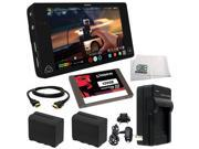 """Atomos Shogun 4K HDMI/12G-SDI Recorder and 7"""" Monitor + Kingston 120GB 2.5"""" SSDNow V300 7mm Internal Solid State Drive (SV300S37A/120G) + 2 Spare Replacement NP-F970 Batteries + MORE"""