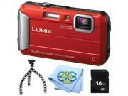 Panasonic Lumix DMC TS30 Tough Digital Camera with rugged gripster tripod 16GB SD memory card and exclusive SSE cleaning cloth