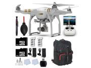 DJI Phantom 3 Professional Quadcopter Drone with 4K UHD Video Camera + 2 64GB Memory Cards + Backpack + 1 Extra Battery + Reader + Lens Cleaning Pen & more