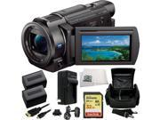 Sony 4K HD Video Recording FDR-AX33 Handycam Camcorder 9PC Accessory Kit Bundle Includes SanDisk Extreme 32GB SDHC Memory Card + 2 Replacement FV70 Batteries + AC/DC Rapid Home & Travel Charger + MORE