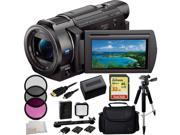 Sony 4K HD Video Recording FDRAX33 FDR-AX33 Handycam Camcorder 32GB Bundle 10PC Accessory Kit. Includes SanDisk Extreme 32GB SDHC Memory Card (SDSDXN-032G-G46) + Replacement FV-70 Battery + MORE