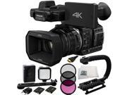 Panasonic HC-X1000 4K DCI/Ultra HD/Full HD Camcorder (Black) + 3PC Filter Kit (UV+CPL+FLD) + LED Video Light Kit + HDMI Cable + Scorpion Stabilizer + Microfiber Cleaning Cloth