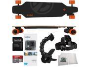 Yuneec E-GO Electric Skateboard + GoPro HERO Action Camera + SanDisk Ultra 16GB UHS-I/Class 10 Micro SDHC Memory Card with Adapter (SDSDQUAN-016G-G4A) + Jaws Flex Clamp + Head Strap + MORE