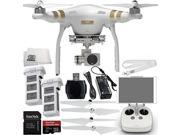 DJI Phantom 3 Professional Quadcopter Drone with 4K UHD Video Camera EVERYTHING YOU NEED Kit Includes Extra DJI Battery +...
