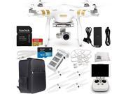 DJI Phantom 3 Professional Quadcopter Drone with 4K UHD Video Camera with Manufacturer Accessories Plus Quick-Release Snap On/Off Prop Guards (Set of 4) + Backp