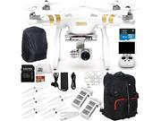 DJI Phantom 3 Professional Quadcopter Drone with 4K UHD Video Camera Includes Handheld Transmitter (Radio Controller) + Extra DJI Flight Battery + DJI Original