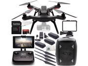3DR Solo Quadcopter (No Gimbal) with Manufacturer Accessories + 2 Extra 3DR Flight Batteries + 2 3DR Propeller Sets + 3DR Solo Backpack + SanDisk Extreme PRO 32