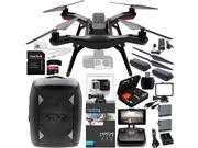 3DR Solo Quadcopter (No Gimbal) with Manufacturer Accessories + Extra 3DR Flight Battery + 3DR Propeller Set + 3DR Solo Backpack + GoPro HERO4 Black + MORE