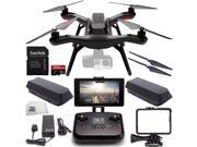 3DR Solo Quadcopter (No Gimbal) with Manufacturer Accessories + Extra 3DR Flight Battery + 3DR Propeller Set + SanDisk 32GB Extreme PRO microSDHC Memory Card (S