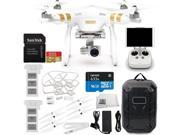 DJI Phantom 3 Professional Quadcopter w/ 4K Camera, 3-Axis Gimbal & Manufacturer Accessories + Extra DJI Battery + Water-Resistant Hardshell Backpack + Quick-Re