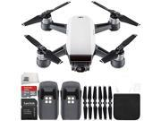 DJI Spark Portable Mini Drone Quadcopter Essential Bundle (Alpine White)