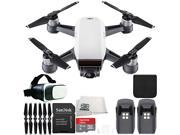 DJI Spark Portable Mini Drone Quadcopter Virtual Reality Experience VR Essential Bundle (Alpine White)