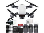 DJI Spark Portable Mini Drone Quadcopter Virtual Reality Experience VR Ultimate Bundle (Alpine White)