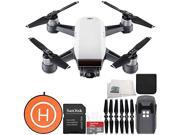 DJI Spark Portable Mini Drone Quadcopter Landing Pad Starters Bundle (Alpine White)